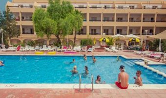 Ibiza workers apartment pool