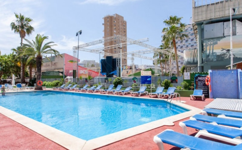 Magaluf workers apartments pool