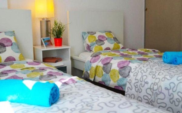 Tenerife workers apartment bedroom